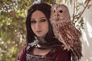 Cosplay Serana of the Volkiha clan with owl by Nadin666999