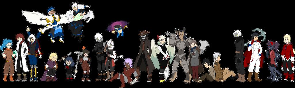 RPG PCs by Axolmotl