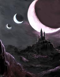 Random fantasy castle by perapera
