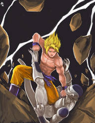 Goku VS Freeza by perapera