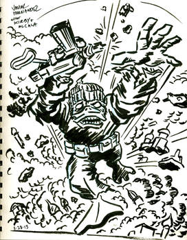 Destroyer Duck tribute art for Jack Kirby