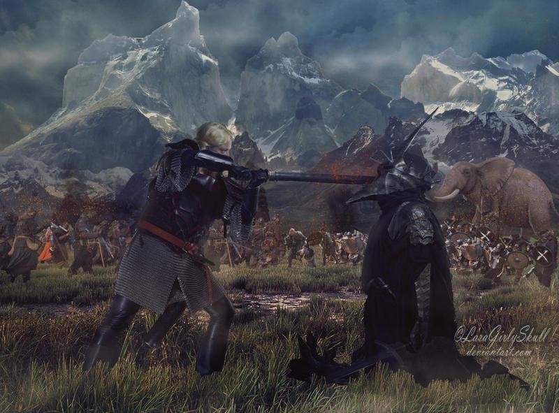 Eowyn's victory by LaraGirlySkull