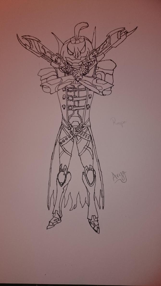 Overwatch - Reaper halloween skin by AryaRoyal on DeviantArt