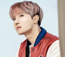 Painting: J-Hope by haru-cchii