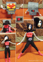 Mettaton Felt Doll Transformation Sequence by feltgood