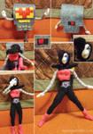 Mettaton Felt Doll Transformation Sequence