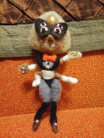 Micro Sardonyx posable felt doll by feltgood