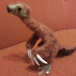 Feathers the baby therizinosaurus