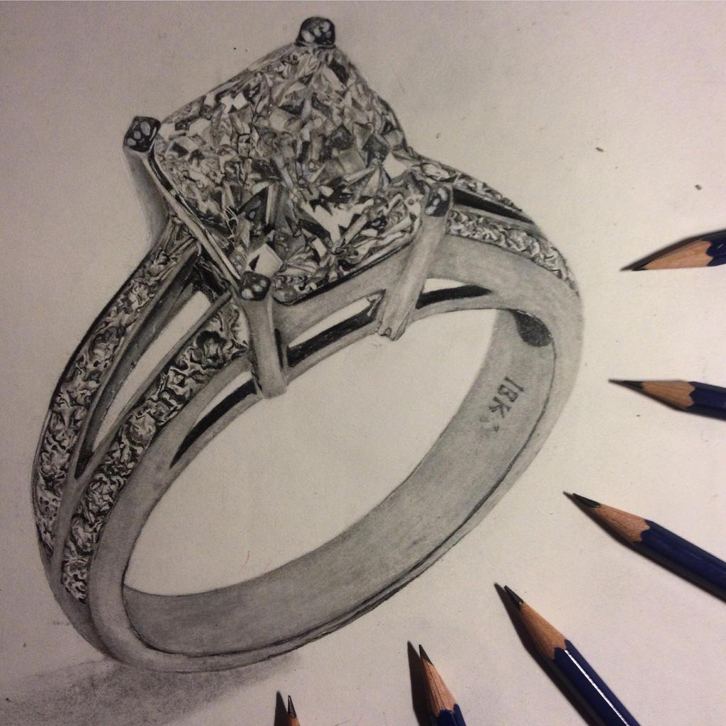 diamond ring pencil drawing wwwimgkidcom the image
