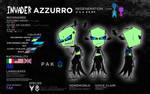 Azzurro: Regeneration Suit Ref Sheet (Irken) by Invader-Azurez