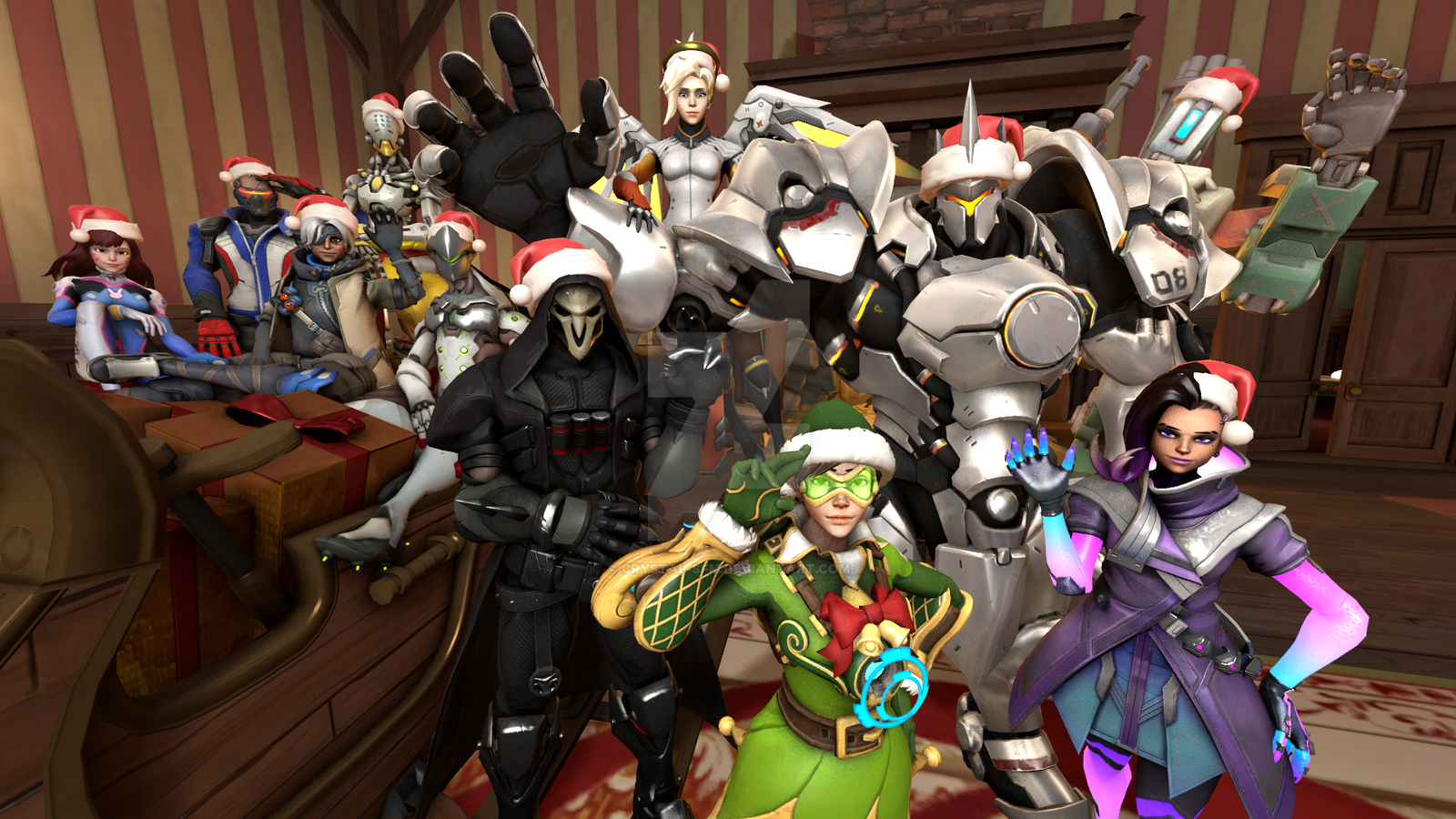Sfm overwatch 2017 merry christmas by crystal sfm on - Overwatch christmas wallpaper ...