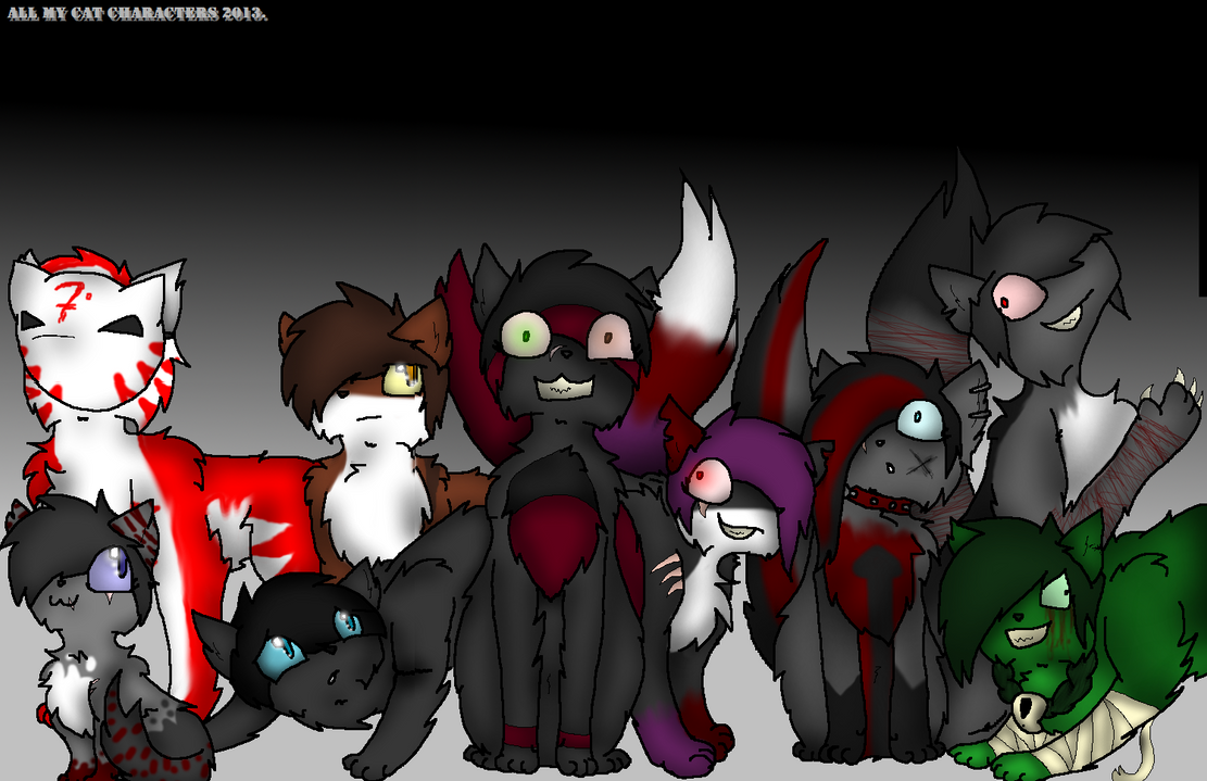 - All my cat characters 2013. ~! by InsaneCuteKitty