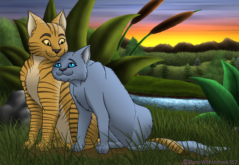 oakheart and bluestar by runswithhorses707 on deviantart