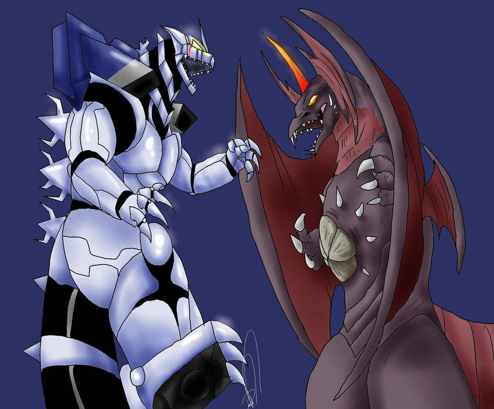 Request- Kiryu vs Destroyah by GeneralisimoJenny