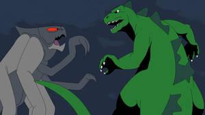 Hanna Barbera Godzilla vs. Hanna Barbera MUTO