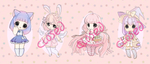 [Closed] Sweet Adopts #1 Auction | 3$ SB! by FractalMoon