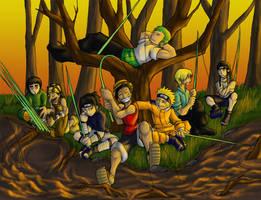 Pirates Vs. Ninjas: FISHING by dragonsong12