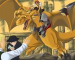 Cyborg Dragon Attack by dragonsong12
