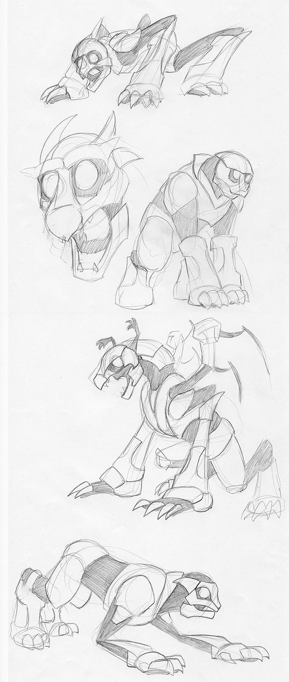 Monster Exploration Sketches by dragonsong12