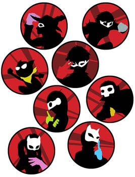 Persona 5 Buttons