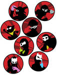 Persona 5 Buttons by dragonsong12