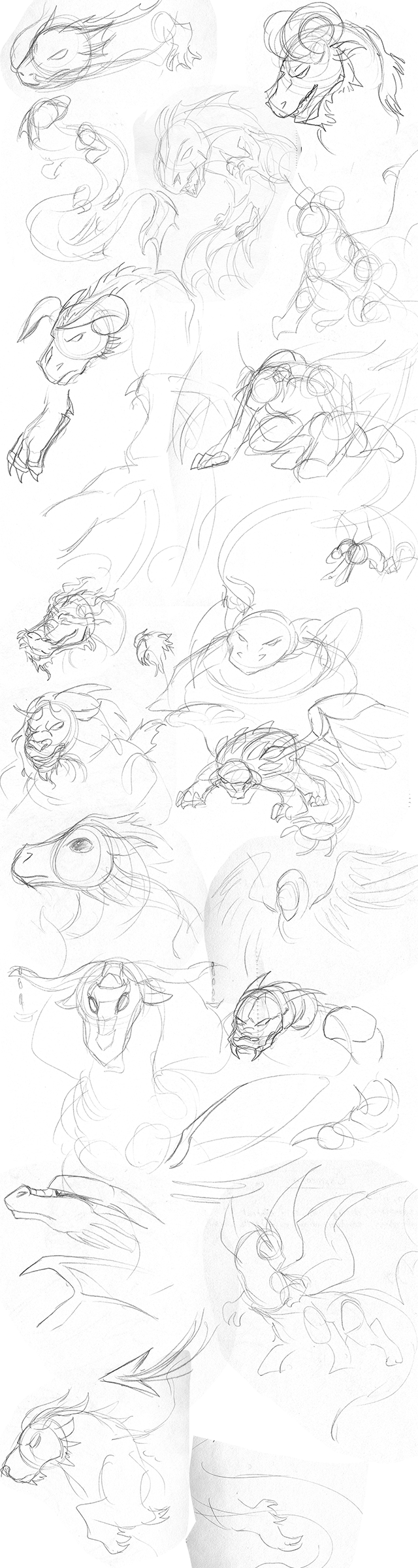 Dragon Sketches by dragonsong12