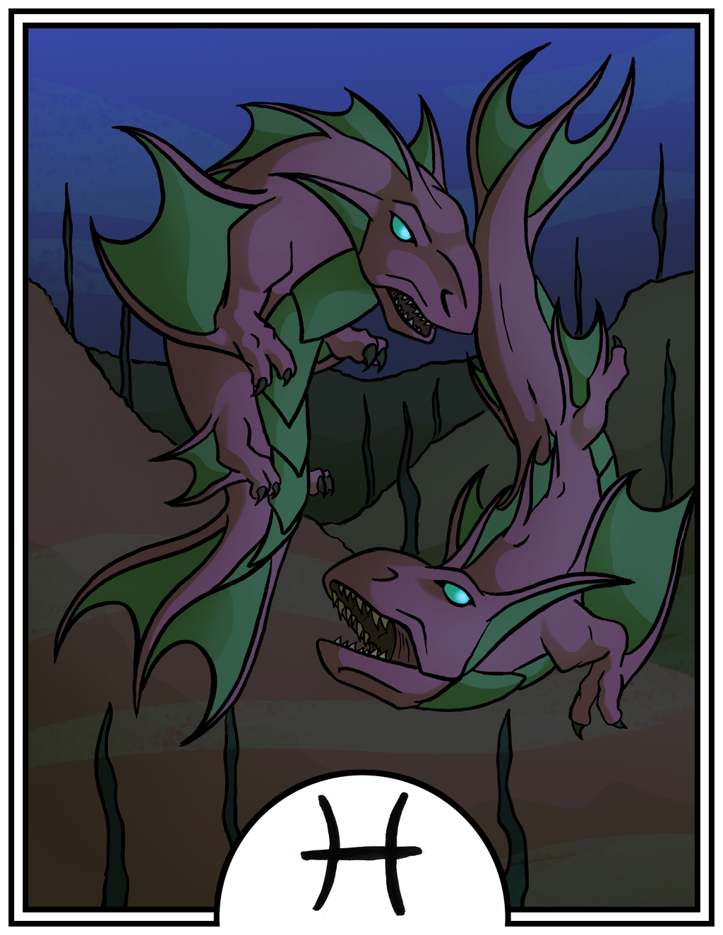 Zodiac Dragons - Pisces by dragonsong12