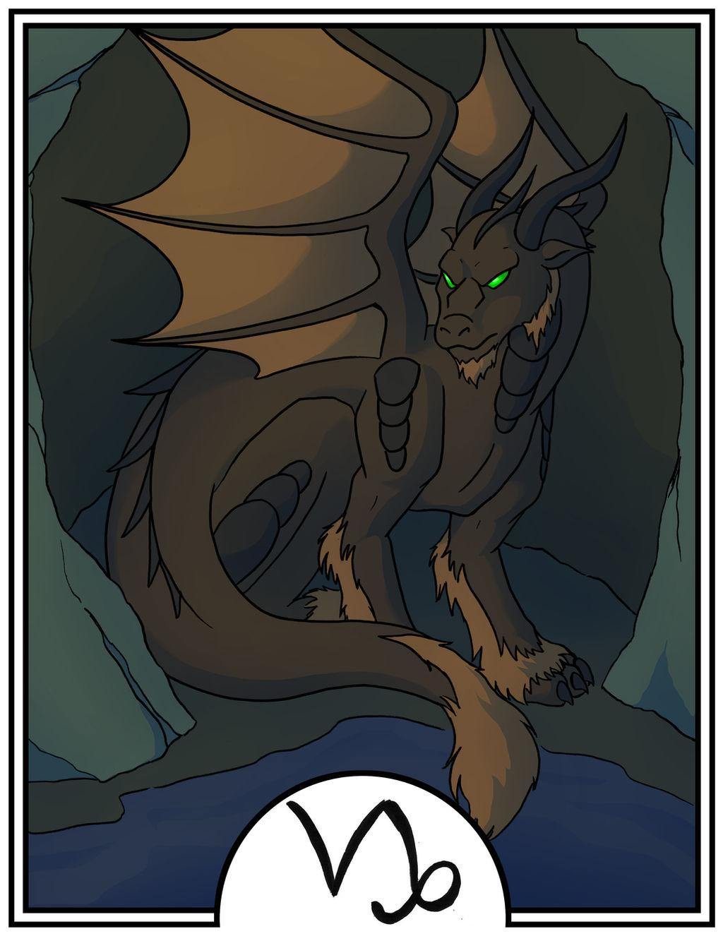 Zodiac Dragons - Capricorn by dragonsong12