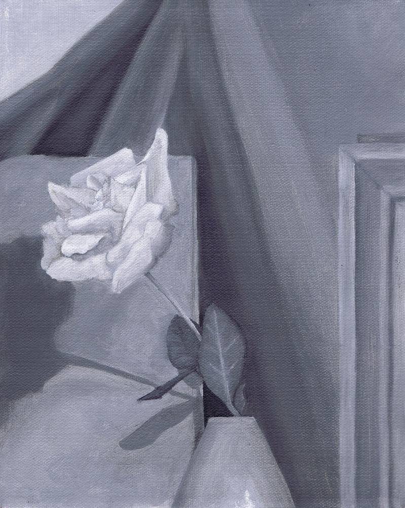 Black And White Oil Painting 33