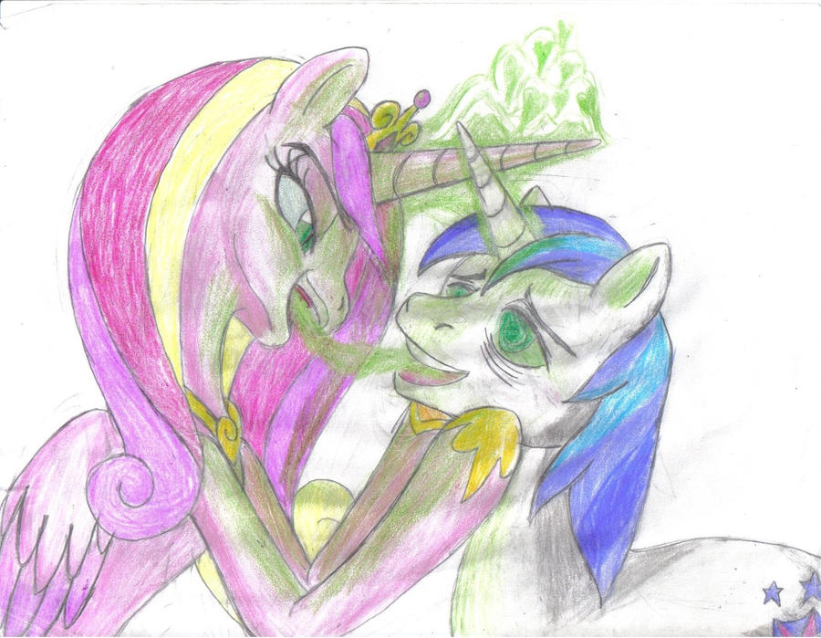 Not-Cadance and Shining Armor by SemiJuggalo on DeviantArt