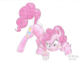 A Playful, Plucky, Pink Pony Prepares to Pounce... by SemiJuggalo