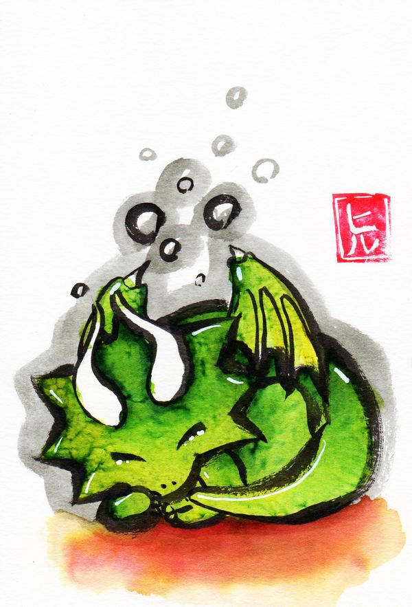 Sumi-e - Drago 004