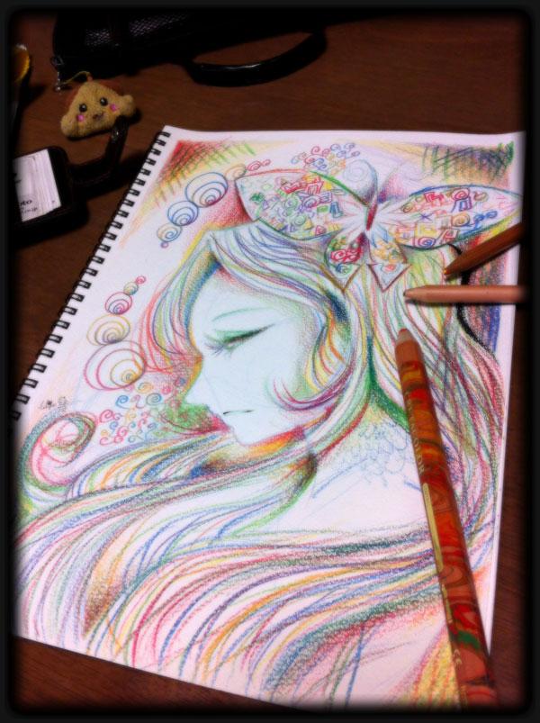 Playing with pencil by hiru-miyamoto