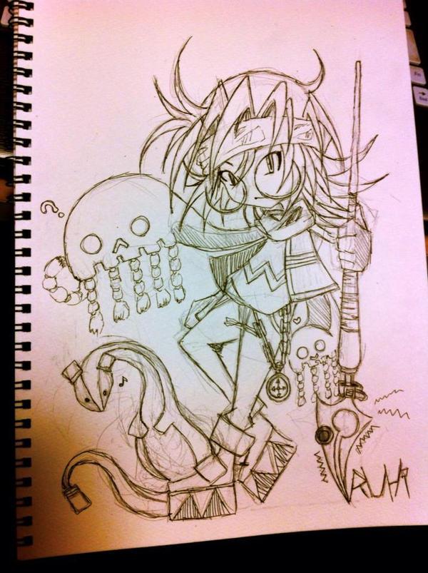 Sketch - Ruhi Tomoyami by hiru-miyamoto