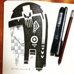 Sketch - Skull hair