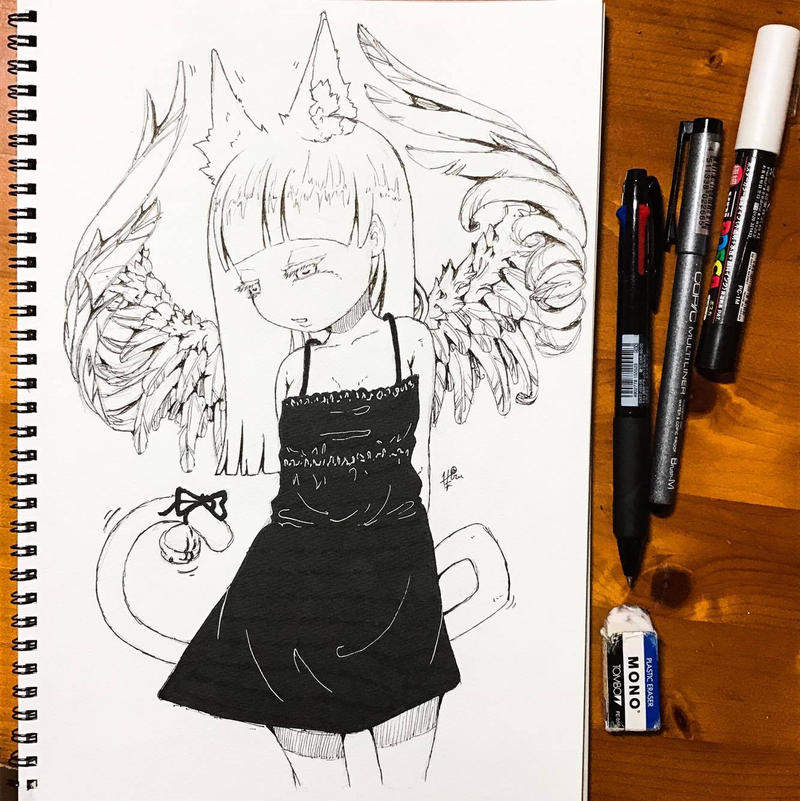 Cat Angel by hiru-miyamoto