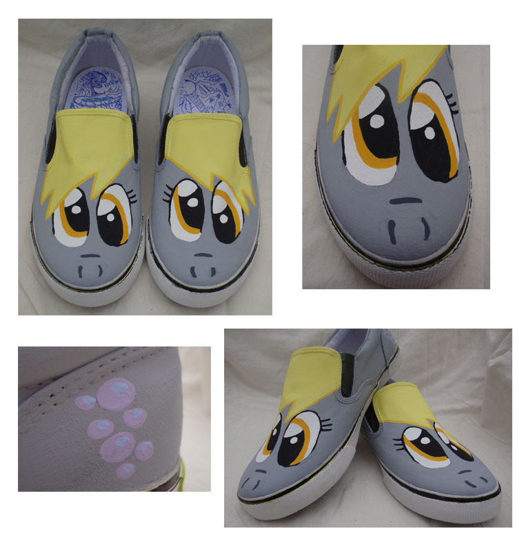 My Little Pony Derpy Hooves Shoes by SneakeryGeekery
