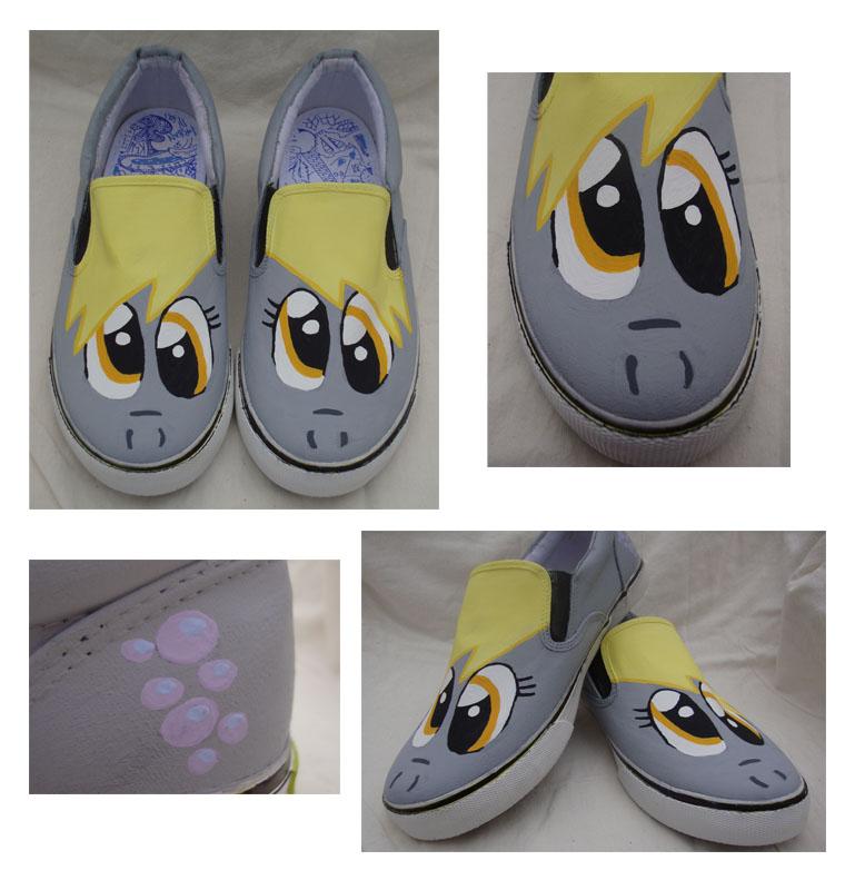 My Little Pony Derpy Hooves Shoes by SneakeryGeekery