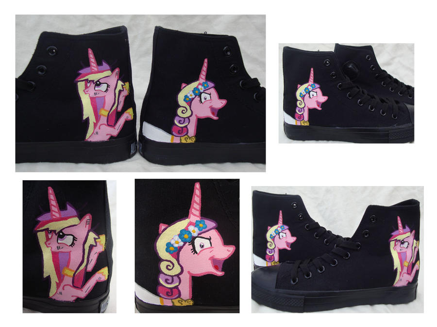 My Little Pony Princess Cadence Wedding Shoes by SneakeryGeekery
