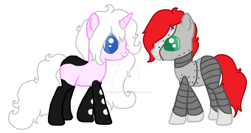 pink domino and robo pop by theliondemon-kaimra