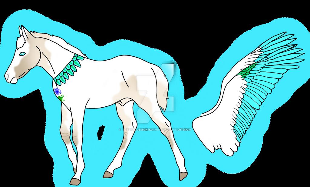 Regem-Aquila foal mine by theliondemon-kaimra