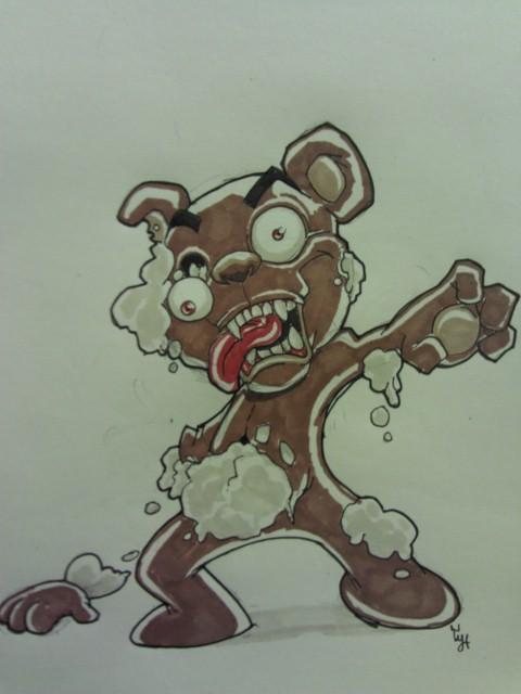 Zombie Teddy Bear By 8rtman11 On Deviantart