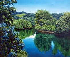 Blue pond by Markkus76