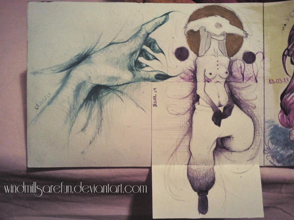 sketchbook page by windmillsarefun