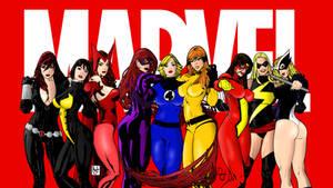 Marvel Ladies Group Shot