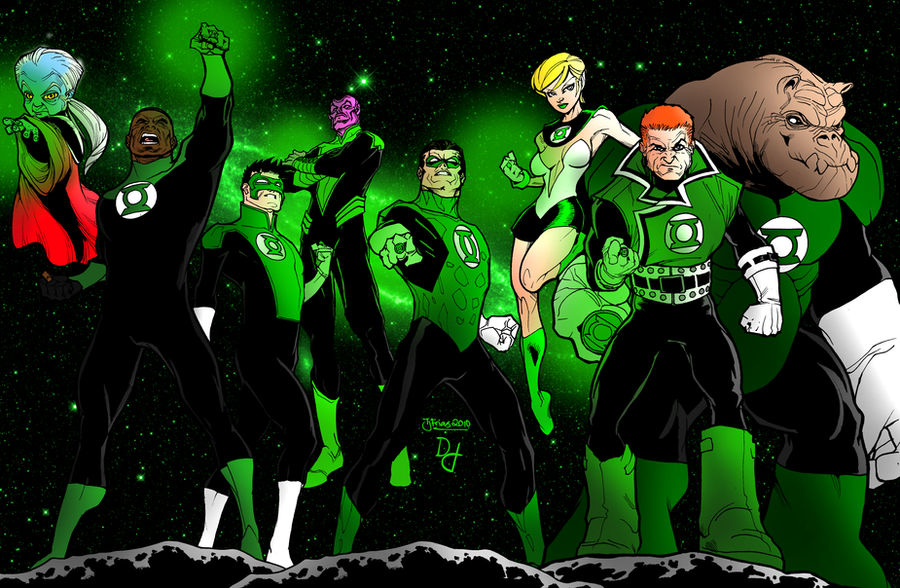 Green Lantern Corps All-Stars by portfan