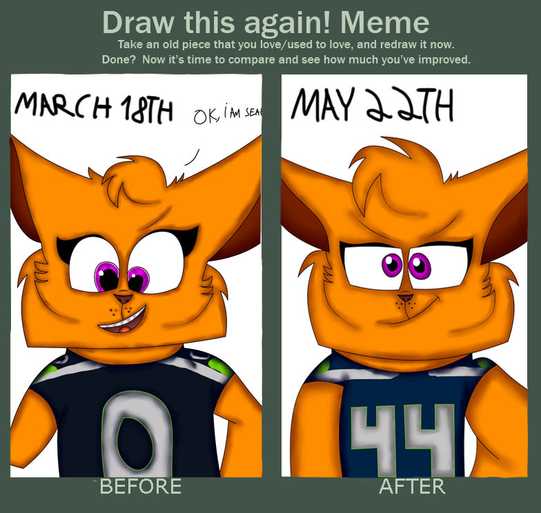Draw This Again! Meme - Me As Seahawks