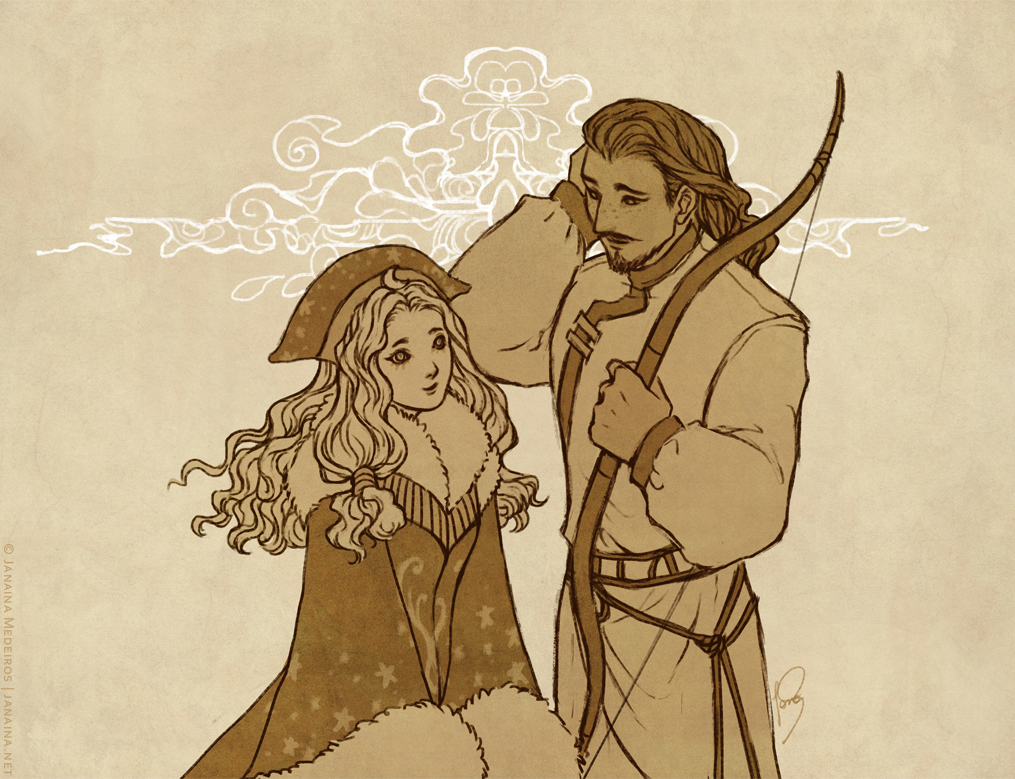 [Commission] Lyuba and Saikhaan by JanainaArt