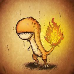 Flame Kaiju Type Four by Vusiuz