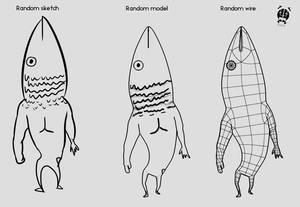 Random Fishmen by Vusiuz